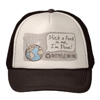 Stick a Fork in Earth Gear Hat