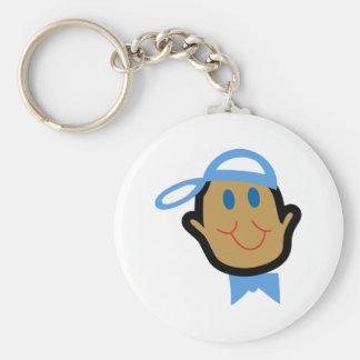 Stick Baby Boy Basic Round Button Key Ring