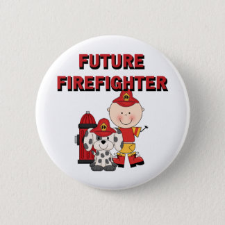 Stick Baby Future Firefighter Tshirts and Gifts 6 Cm Round Badge