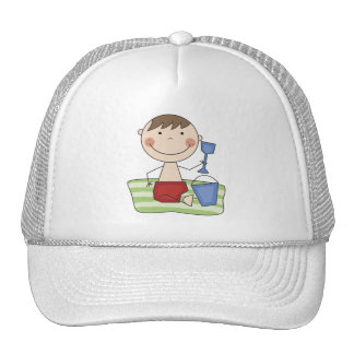 Stick Boy at Beach Tshirts and gifts Trucker Hat