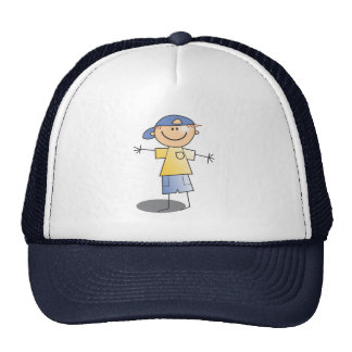 Stick Boy ~ Blue Ball Cap