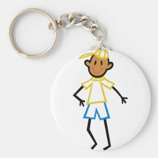 Stick Boy Basic Round Button Key Ring