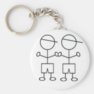 stick boy keychain twin boys