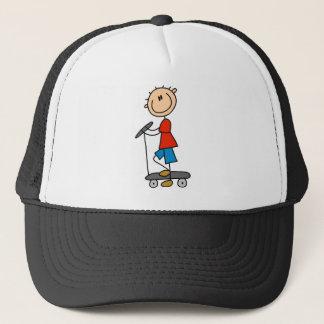 Stick Boy on Scooter Cap