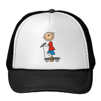 Stick Boy on Scooter Cap