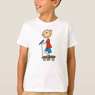 Stick Boy on Scooter T-Shirt