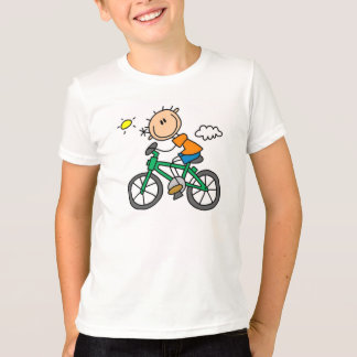 Stick Boy Riding Bicycle T-Shirt