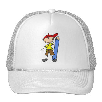Stick Boy With Pencil Trucker Hats