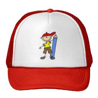 Stick Boy With Pencil Trucker Hat