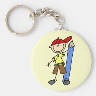 Stick Boy With Pencil Key Chains