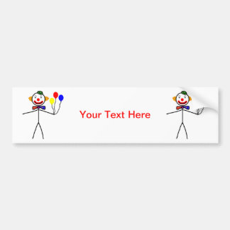 Stick Clown Bumper Sticker