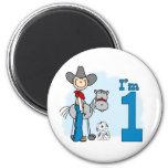 Stick Cowboy 1st Birthday Fridge Magnets