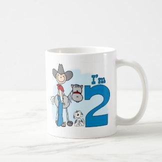 Stick Cowboy 2nd Birthday Basic White Mug