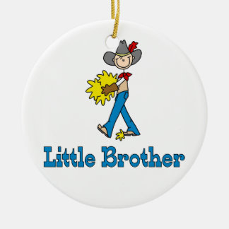 Stick Cowboy Little Brother Christmas Ornament
