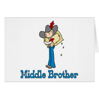 Stick Cowboy Middle Brother Stationery Note Card