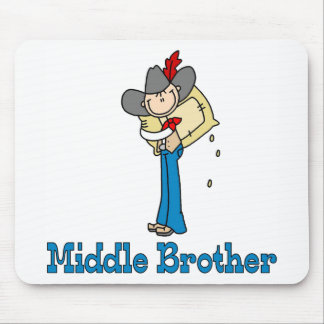 Stick Cowboy Middle Brother Mouse Pad