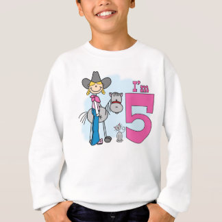 Stick Cowgirl 5th Birthday Sweatshirt