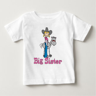 Stick Cowgirl Big Sister Baby T-Shirt