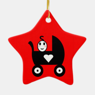 Stick Family Baby Ceramic Star Decoration