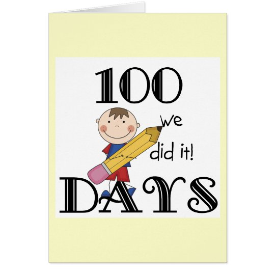 Stick Figure 100 Days Card