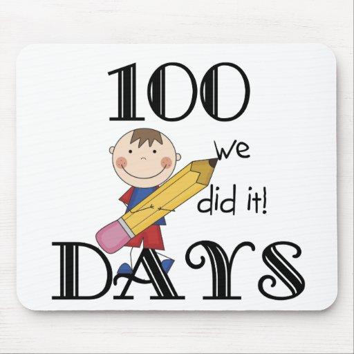 Stick Figure 100 Days Mouse Pads