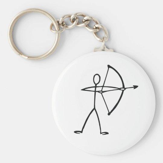 A Beautiful Archer Button Badge Key Chain