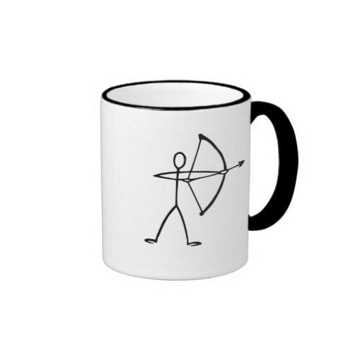 Stick figure archer t-shirts and gifts. mug