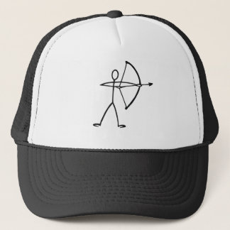 Stick figure archer t-shirts and gifts. trucker hat