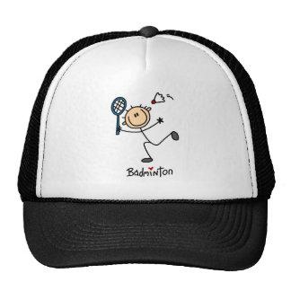 Stick Figure Badminton Baseball Cap