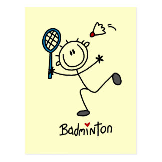 Stick Figure Badminton T-shirts and Gifts Postcard