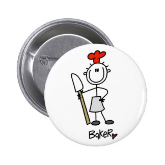 Stick Figure Baker 6 Cm Round Badge