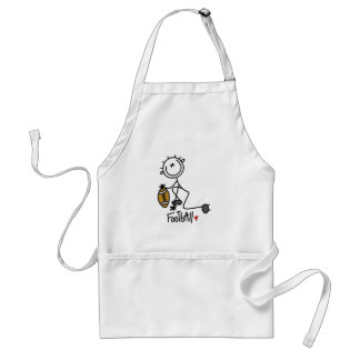 Stick Figure Basic Football T-shirts and Gifts Adult Apron
