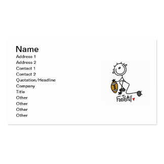 Stick Figure Basic Football T-shirts and Gifts Business Card Templates