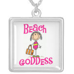 Stick Figure Beach Goddess Necklace