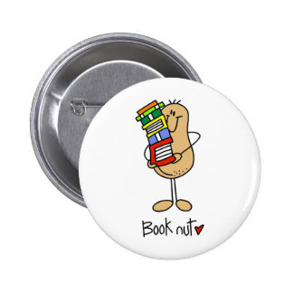 Stick Figure Book Nut Button