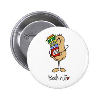 Stick Figure Book Nut Button