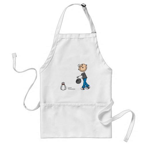 Stick Figure Bowling T-shirts and Gifts Apron