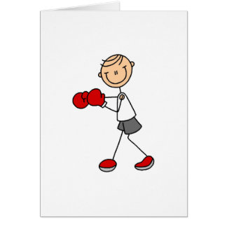 Stick Figure Boxing Card