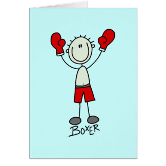 Stick Figure Boxing T-shirts and Gifts Greeting Card