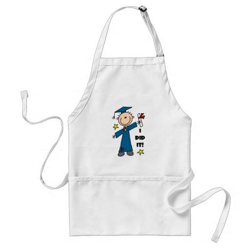 Stick Figure Boy Graduate T-shirts and Gifts Aprons