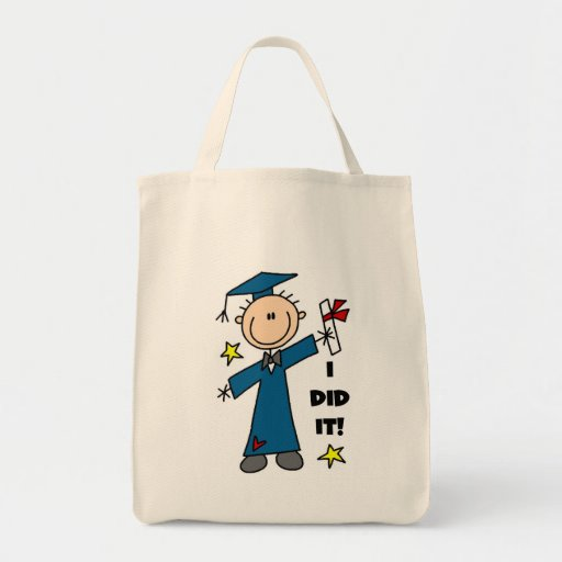 Stick Figure Boy Graduate T-shirts and Gifts Bags
