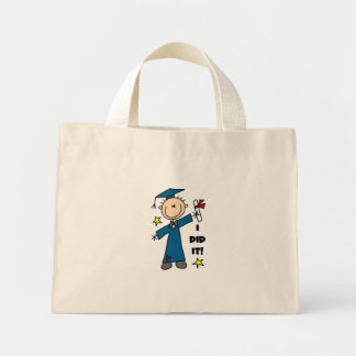 Stick Figure Boy Graduate T-shirts and Gifts Tote Bags