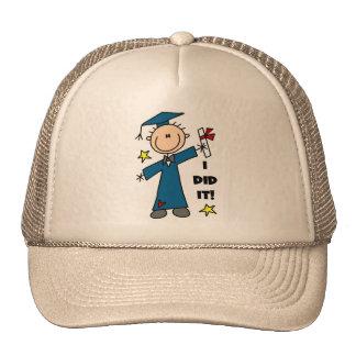 Stick Figure Boy Graduate T-shirts and Gifts Hat