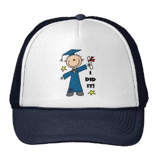 Stick Figure Boy Graduate T-shirts and Gifts Trucker Hat