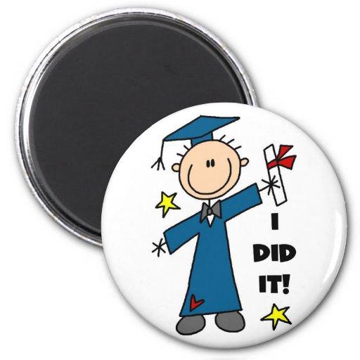 Stick Figure Boy Graduate T-shirts and Gifts Fridge Magnet