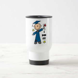 Stick Figure Boy Graduate T-shirts and Gifts 15 Oz Stainless Steel Travel Mug