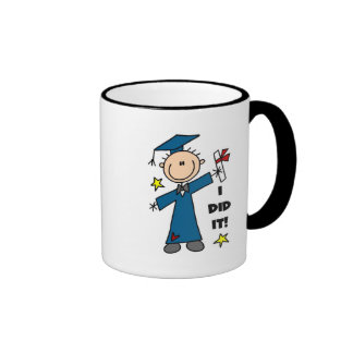 Stick Figure Boy Graduate T-shirts and Gifts Mug