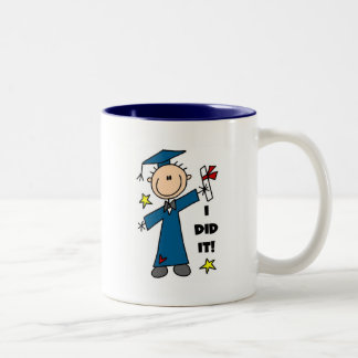 Stick Figure Boy Graduate T-shirts and Gifts Coffee Mugs