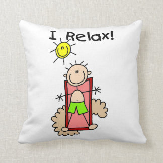 Stick Figure Boy I Relax Cushion