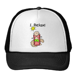 Stick Figure Boy I Relax Trucker Hats